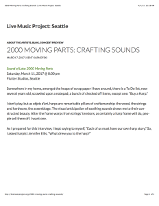 Sound of Late Interview - 2000 Moving Parts: Crafting Sounds | Live Music Project: Seattle